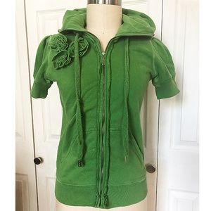 JUICY COUTURE - FRENCH TERRY SHORT SLEEVE JACKET